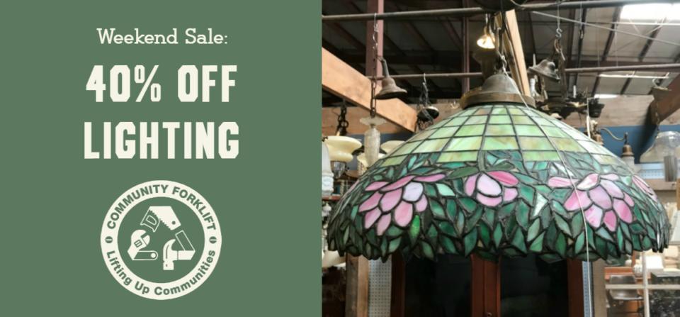 Weekend Sale:  40% off Lighting