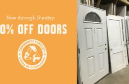 50% off Modern & Vintage Doors