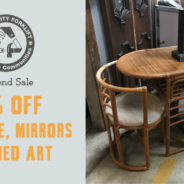 Weekend Sale:  50% off Furniture, Mirrors, & Art