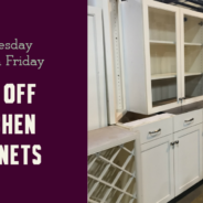 3 Day Sale:  25% off Kitchen Cabinets