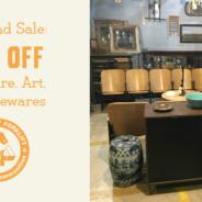 Weekend Sale:  40% off Furniture, Housewares, & Art