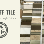 Midweek Sale:  25% off Tile
