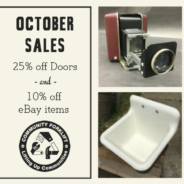 October Sales:  25% off Doors & 10% off eBay