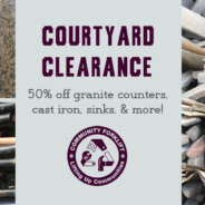 Courtyard Clearance this weekend!