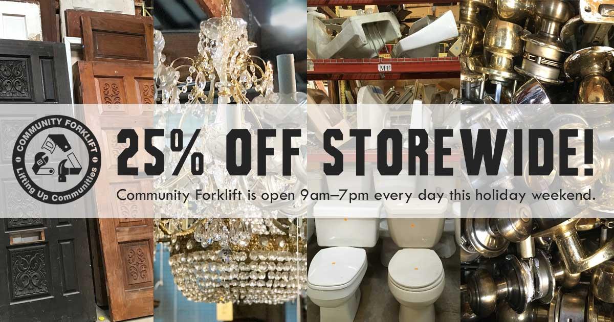 Storewide 25% off sale
