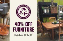 Midweek sale: 40% off furniture