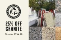 Weekend Sale: 25% off granite and marble counters