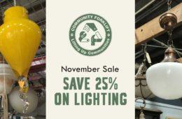 November Sale: 25% off lighting