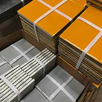 Assorted floor tile at Community Forklift