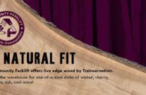Treincarnation's 'live edge' lumber