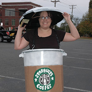 Starbucks Coffee Cup Halloween Costume DIY