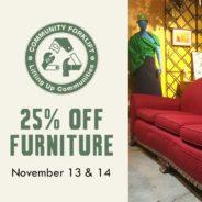 Mid-week Flash Sale: 25% off Furniture