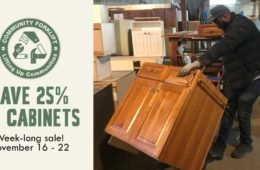 Week-long Sale: 25% Off Kitchen Cabinets