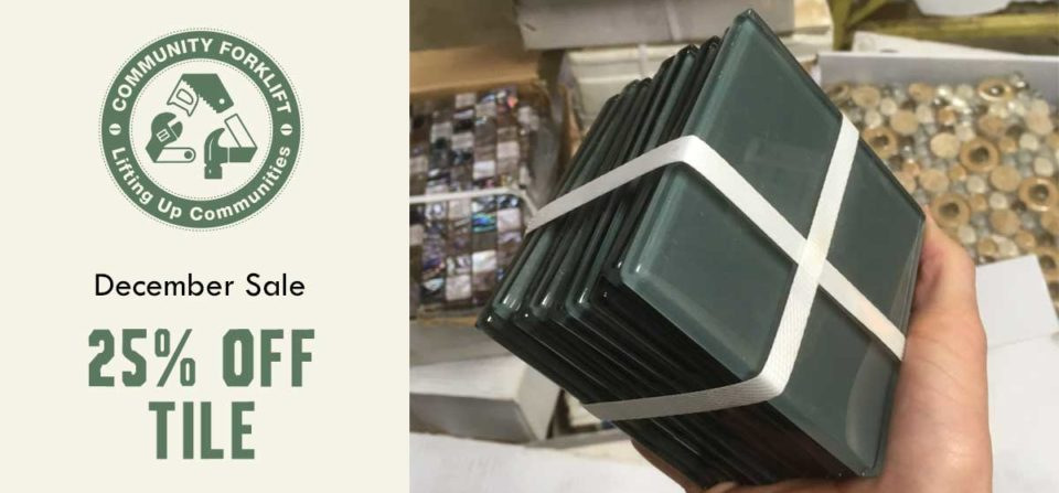 December Sale: 25% Off Tile