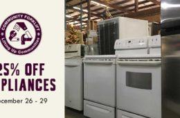Save 25% on Appliances