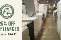 Weekend Sale: 25% off Appliances