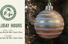 Holiday hours at your local reuse warehouse
