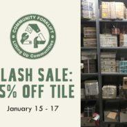 Flash Sale: Save 25% on Tile
