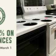 Save 40% on appliances!