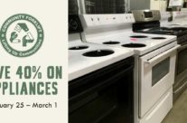 Save 40% on appliances!