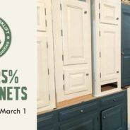 Weekend sale: save 25% on kitchen cabinets
