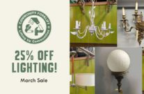 March Sale: 25% off lighting