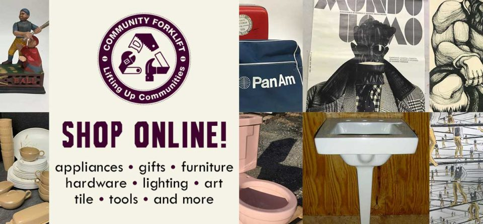 Community Forklift Online: Gifts, Plumbing fixtures, art, and more!