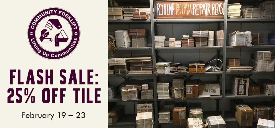 Flash Sale: 25% off tile!