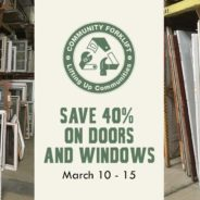 Save 40% on doors and windows