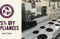April Sale: 25% off Appliances