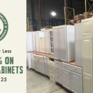 Essentials for Less: 50% off Kitchen Cabinets