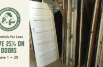 Essentials for Less: 25% off Doors for the month of June