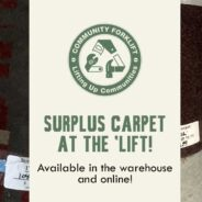 Carpeting at Community Forklfit is wall-to-wall value!