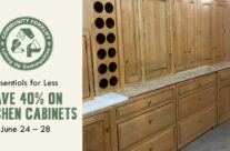 Essentials for less: 40% off Kitchen Cabinets
