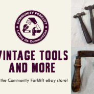 Vintage tools in the Community Forklift eBay store