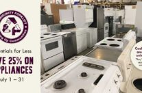 Essentials for Less: 25% off appliances during July