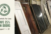 Essentials for Less: 25% off Doors during August