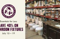 Essentials for Less: 40% off Bathroom Fixtures
