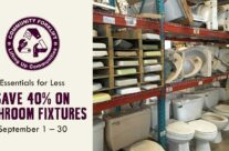 On a treasure hunt for new or vintage Bathroom Fixtures? Save 40% in September!