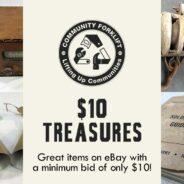 $10 Treasures in the Community Forklift eBay store!