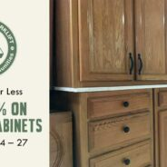 Save 25% on kitchen cabinet sets and singles!