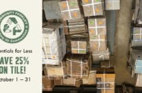 Essentials for Less: Save 25% on wall & floor tile in October!