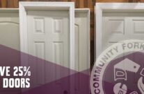 Just arrived: new doors — and they're 25% off!