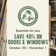 Save 40% on doors and windows this weekend!