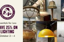 Essentials for Less: Lighting is 25% off this weekend!