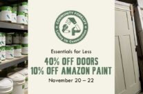 Save 40% on Doors and 10% on Amazon Paint