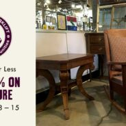 Save 40% on modern and vintage furniture!