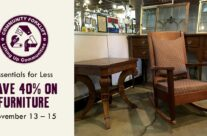 Save 40% on modern and vintage furniture!