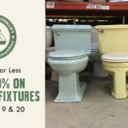 Save 40% on fabulous vintage and modern bathroom fixtures this weekend!