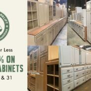 Kitchen cabinet sets and singles are 25% off this weekend!
